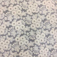 Chanderi Embroidered Fabric