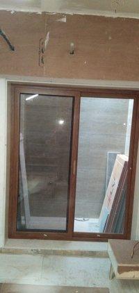 wooden window aluminium coated