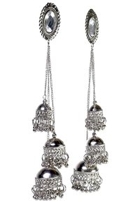 Afghani Kashimri Tribal Oxidised Alloy Earring