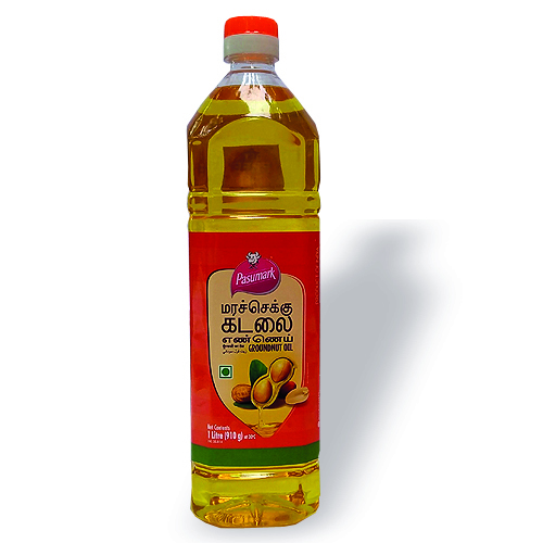 Pasumark Cold Pressed Groundnut Oil 1 Ltr Pet Bottle