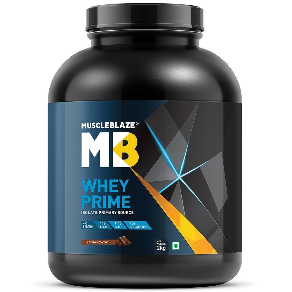 MuscleBlaze Whey Prime (80%) Protein,2kg (4.4 lb )Chocolate