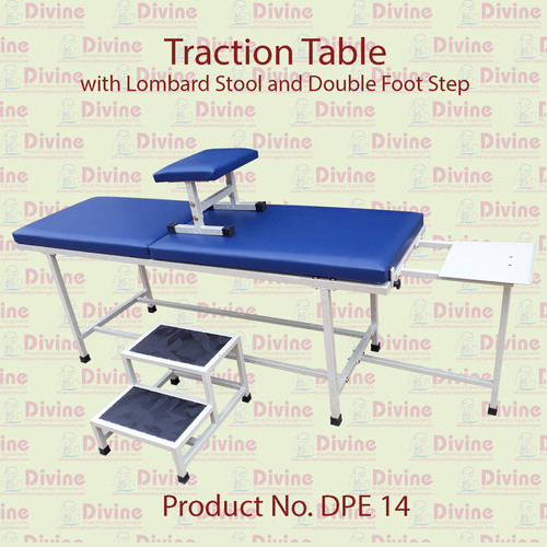 Traction Table with Lombard tool and Foot Steps