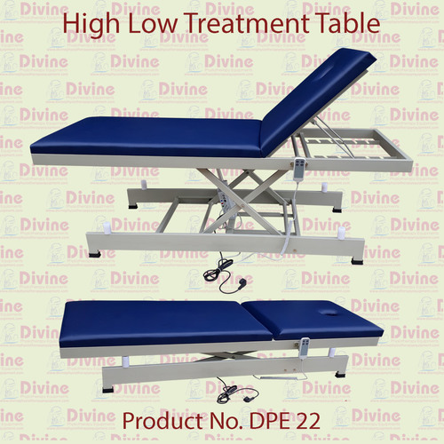 High Low Treatment Table with Backrest Adjustable