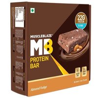 MuscleBlaze Hi-Protein Bar (22g Protein), 6 Piece(s)/Pack Almond Fudge