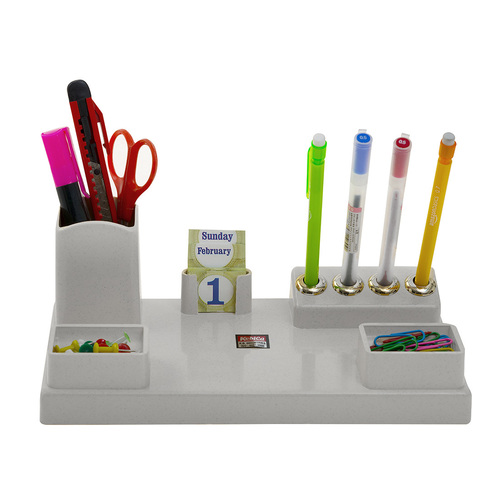 Kebica Pen Stand Stationery Supplies Pins, Clips Holder Tray