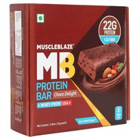 MuscleBlaze Protein Bar (22g Protein), 6 Piece(s)/Pack Choco Delight