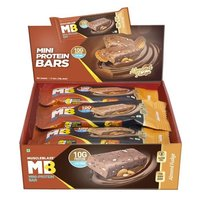 MuscleBlaze Mini-Protein Bar (10g Protein), 12 Piece(s)/Pack Almond Fudge