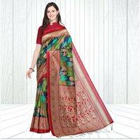 Mysore Silk Dandiya-Ras Print Saree