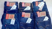 Men customs Seized jeans with bill for resale in India