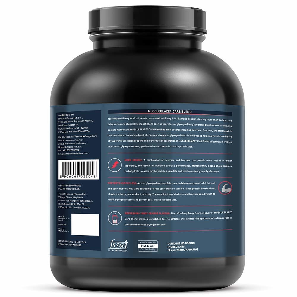 MuscleBlaze Carb Blend,3kg (6.6 lb) Orange