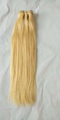Straight blonde hair