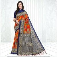 Mysore Silk Mor Pankh Saree In MultiColor