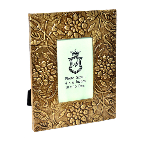 Indian Home Decor Wooden Photo Frame Brass Fitted Handicraft Items
