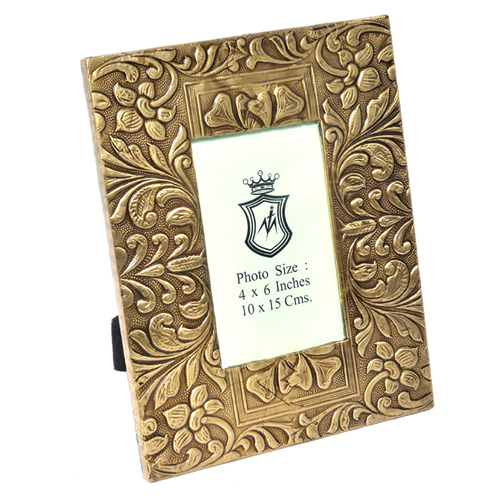 Home Decorative Wooden Photo Frame Brass Fitted Handicraft Product