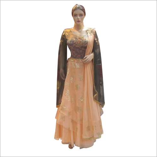 Ladies Heavy Embroidered Gown