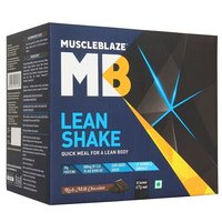 MuscleBlaze Lean Shake, 10 sachets/pack Rich Milk Chocolate