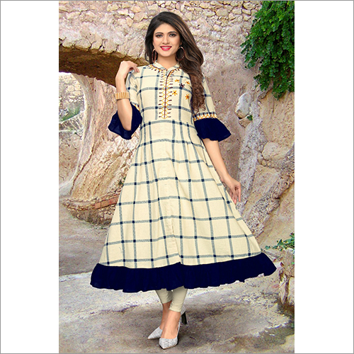 Gown Style Ladies Party Wear Kurti