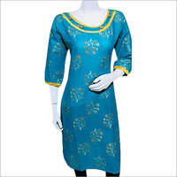 Ladies Round Neck Printed Kurti