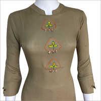 Ladies Round Neck Designer Suit