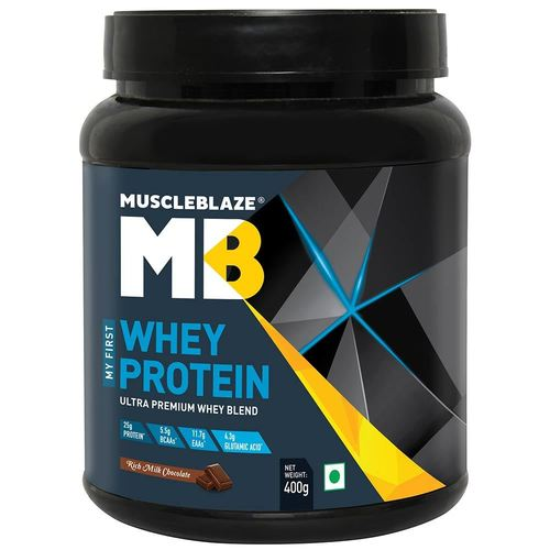 MuscleBlaze My First Whey,0.4kg (0.88 lb) Rich Milk Chocolate
