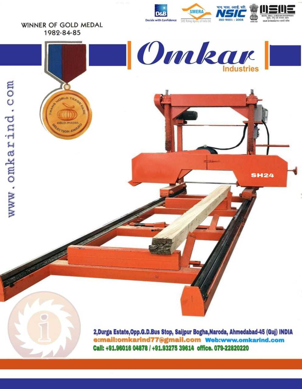 Wood Cutting Bandsaw Machine