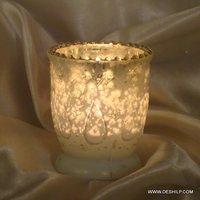 ANTIQUE DESIGN GLASS CANDLE HOLDER