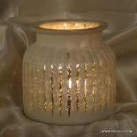 SILVER FINISH ANTIQUE CANDLE HOLDER