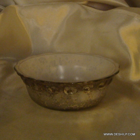 GLASS SILVER DINNER BOWLS