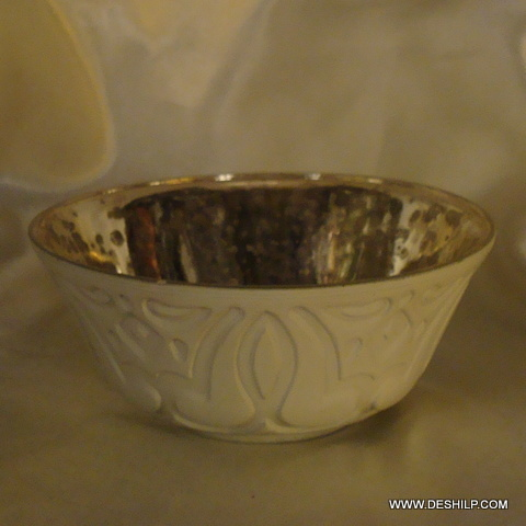 HANDMADE GLASS SILVER TABLE BOWLS