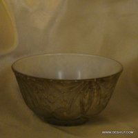 GLASS DINNER BOWLS SILVER FINISH