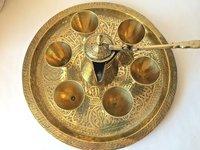 Beautiful Brass Dallah Coffee Set of 8