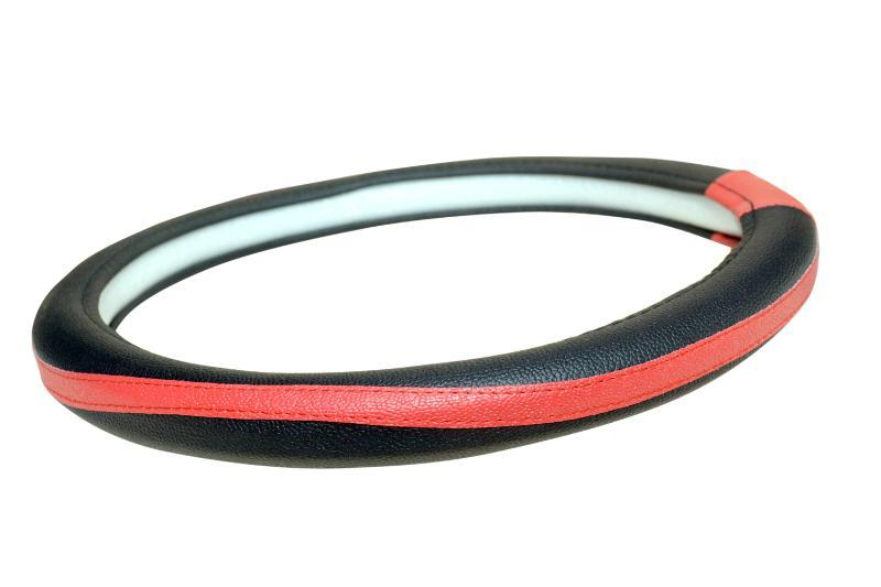 Quanto_Black & Orange Steering Cover