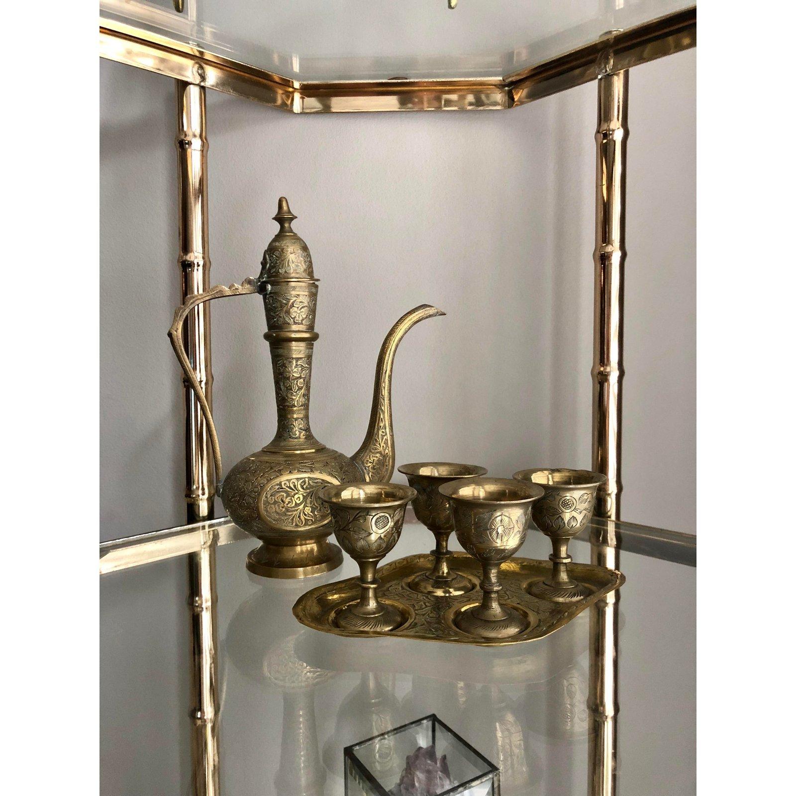 Brass Silver Dallah Set