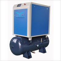 4kw 5.5kw 0.6m3/Min Mounted Screw Air Compressor With Air Receiver