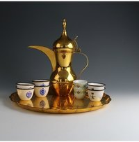 Vintage Brass Arabic Dallah Coffee Set