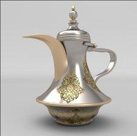 Vintage Brass Arabic Dallah Coffee Set