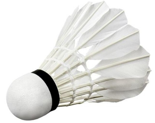 Badminton Shuttlecock white Feathers