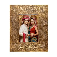 Brass Fitted Decorative Wooden Picture Frame Handmade Photo Frame Handicraft