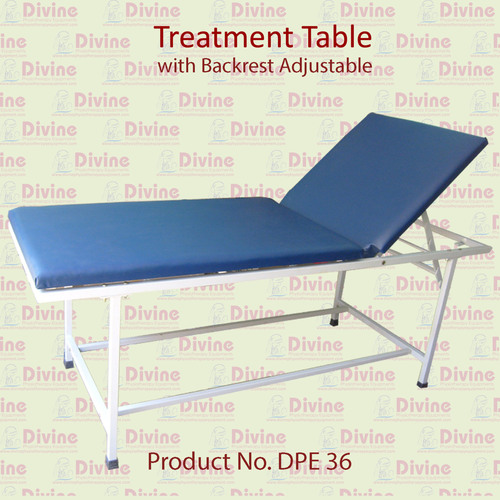 Treatment Table with Backrest Adjustable