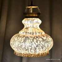 SILVER POLISH GLASS DECOR WALL HANGING LAMP