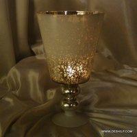 GLASS HURRICANE SHAPE CANDLE HOLDER