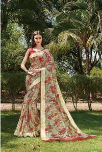 Digital Printed Silk Sarees