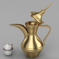 Dallah Coffee in 3D Model