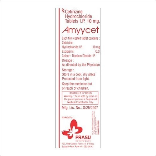 10mg Cetirizine Hydrochloride Tablet