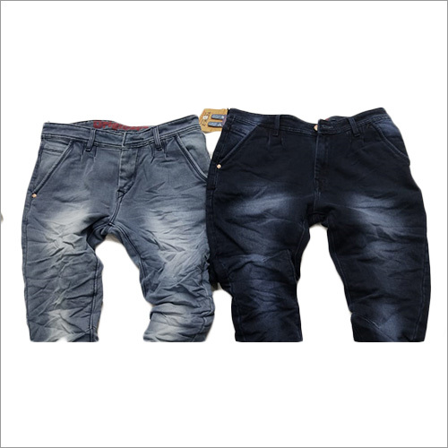 Mens Designer Crushed Jeans