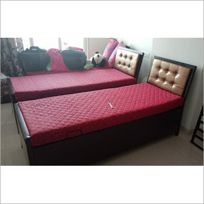Iron Storage Single Bed