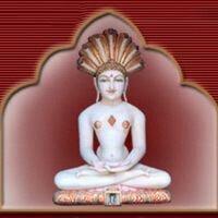 White Marble Mahavir Statue
