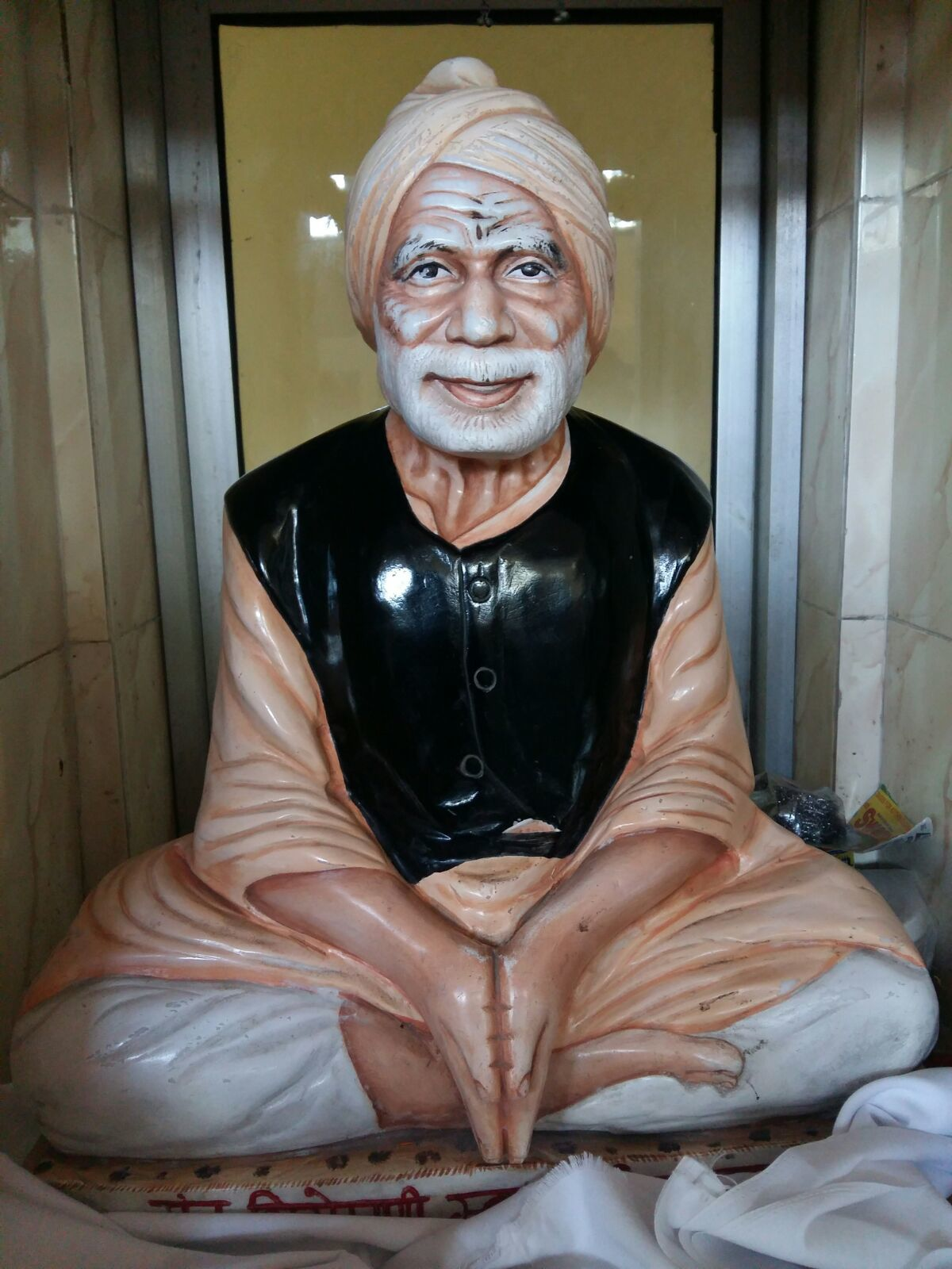 Marble Old Man Statue