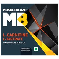MuscleBlaze L-Carnitine L-Tartrate, 60 capsules Unflavoured