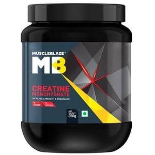 MuscleBlaze Creatine Monohydrate, Unflavoured(0.25kg) 0.55 lb